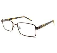 [Free Lenses] Men's Stainless Steel Rectangle Full-Rim Fashion Prescription Eyeglasses