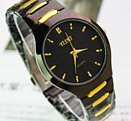 nova cinta de aço mostrador redondo explosão de moda relógio de quartzo homens de negócios
