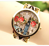 Fashion Women's Flower National Weaving South Korea Style Chain DIY Watch