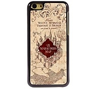 The Marauders Map Design Aluminum Hard Case for iPhone 5C