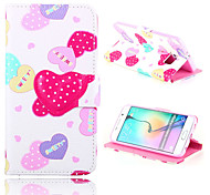 Love Painting 3D High Quality PU Leather Full Body Case with Stand for Samsung Galaxy S4/S5/S6/S6 Edge/S6 Active