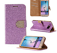 The High Quality Glitter PU Full Body Case with Stand for Samsung Galaxy S6(Assorted Colors)