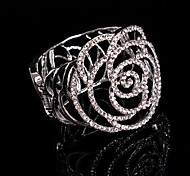 Luxurious Diamond Rose Hollow Big Aolly Bracelet For Women Lades Bridal Birthday GIft Party Beach Wedding Dance