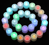Multicolor LED Candle Pattern Night Light(1ps  & Random Color)