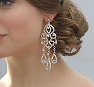 Tropfen-Ohrringe Krystall Strass versilbert Imitation Diamant Aleación Brautkleidung Schmuck Hochzeit Party 1 Stück