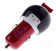 Cartoon Dolls 5V 1A Car Power Charger for iPhone6/6Plus/5/5S/Samsung and Other Devices