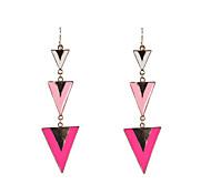 Fashion Women Enamel Triangle Drop Earrings