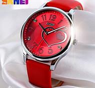 SKMEI® Women's Heart Shape Pattern Wristwatch Japanese Quartz Leather Strap