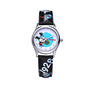 Hot sell famous brand Disney  genuine leather band  fashion cartoon children quartz wacthes DC-54065
