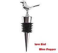 aço inoxidável amor pássaro estilo Songbird garrafa de vinho rolha 9 * 3 * 2,5 centímetros