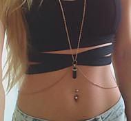 Body Chain Crystal Pendant Bikini Jewelry, Sexy Body Chain, Simple Gold Chain Crystal, Body Jewelry