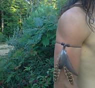 Real Feather Armband, Bohemian, Indian Armband, Wild Turkey Feathers, Indian Warrior, Suede,Tribal Armband