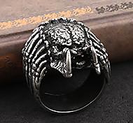 Lureme® Fashion Gothic Man's Alloy Alien Shape Wide Ring