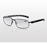[Free Lenses] Plastic Rectangle Rim-Full Bifocal Reading Eyeglasses