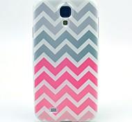 ondulaciones rosadas TPU caso suave para mini i9190 Samsung Galaxy S4