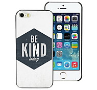 Unique Be Kind Design PC Hard Case for iPhone I4