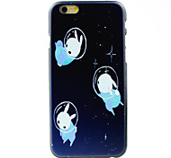Three Rabbits Pattern Hard Case for iPhone 6