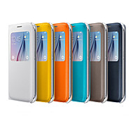 Original-PU-Leder Smart-Auto-Sleep-Ganzkörper-Fall für Samsung-Galaxie s6 g9200 (farblich sortiert)