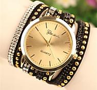 Women's Fashion PU Band Quartz Analog Bracelet Watch (Assorted Colors)