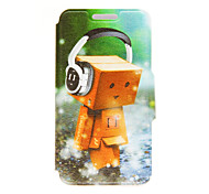 For Huawei Case Card Holder / with Stand / Flip Case Full Body Case Cartoon Hard PU Leather Huawei Huawei Honor 4X