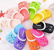 Solid Color Fragrance Cute Slippers Silica Gel Cover With for iPhone 5/5S Case (Assorted Color)