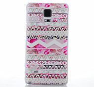 Pink Folk Style Pattern PC Hard Back Cover Case for Samsung Galaxy Note4