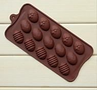 Fashion Silicone Chocolate Soap Ice Jelly Pudding Cake Decorating Mould Kitchen Bakeware Cooking Tools (Random Color)
