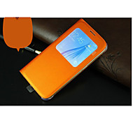 Smart Phone Holster  Dormant  PU Protective Sleeve For Samsung Galaxy S6 Edge(Orange)
