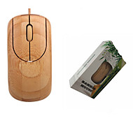 Green&eco-friendly A4TECH Wired USB Port Connect to PC Bamboo Office Essential Mouse
