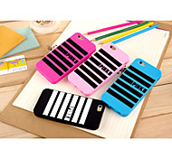 Silicone Material Piano Horizontal Grain Design for iPhone 6 (Assorted Colors)