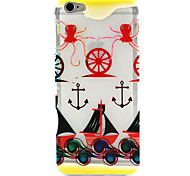 Octopus Anchors Pattern TPU Relief Back Cover Case for iPhone 6