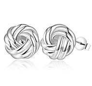 Women's Gorgeous Ball 925 Silver Plated Earrings
