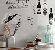Vintage Wine Bottles PVC Wall Stickers Wall Art Decals