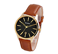 Classic Men's Watch Genuine Leather Strap