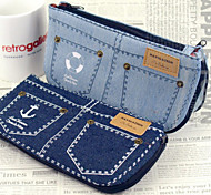 Jeans Design Cloth Zipper Pen Bag(Assorted Color)