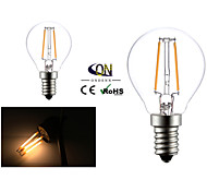 2W E14 Lampadine LED a incandescenza G45 2 COB 200 lm Bianco caldo AC 220-240 V 2 pezzi