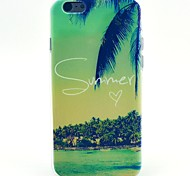 Coconut Beach Pattern TPU Material Phone Case for iPhone 4/4S