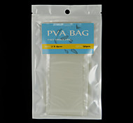 200pcs 7cm x 15 centimetri facile carpa aperta sacchetti di PVA pesca d'acqua si dissolvono 50pcs / bag x 4 borse