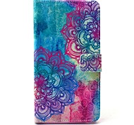 Beautiful Mandala Flower Pattern PU Leather Case with Stand Card Holder for Samsung Galaxy Note 4