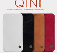 NILLKIN Qin Series Leather Case Back Cover Case for Galaxy E5(E500)