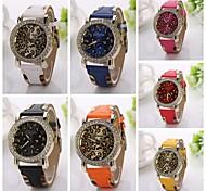 Luxury Men Women Unisex Classic Analog Quartz Wrist Watch fashion big dial Leopard grain women's rhinestone Watches