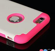 df 2 in 1 reine Farbe Silikon-Antiklopf weiche Tasche für für iphone 6 (verschiedene Farben)