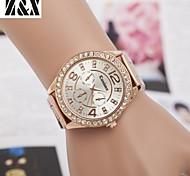 Montre de mode de diamants quartz analogique de ceinture en acier des femmes (couleurs assorties)