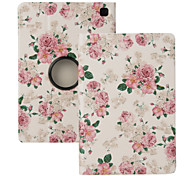 "Elonbo® Beautiful Camellia 360 Rotating PU Leather Full Body Protector Case Cover For Amazon Kindle Fire HDX 7""2013 Gen."