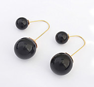 European Style Fashion Wild Latest Asymmetric Pearl Earrings