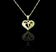 18K reales Gold überzog Herzanhänger 3 * 2.6cm