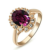 Ring Fashion Wedding / Party Jewelry Alloy Women Statement Rings 1pc,One Size Rose Gold