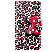 Leopard Print Pattern Bowknot Buckle PU Leather Full Body Case for Samsung Galaxy S6