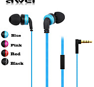 Genuine Awei 13Vi Headphone 3.5mm In Ear Canal Super Bass with Microphone Remote for Samsung S4 S5 S6(Assorted Color)