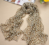Women's Casual Chiffon/Polyester Fashion Leopard Print Thin Scarves